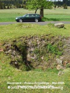 Sauersack - Hausruine mit Blick zum Kellergewölbe - Mai 2008