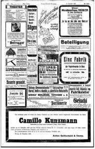 Todesanzeige Camillo Kunzmann